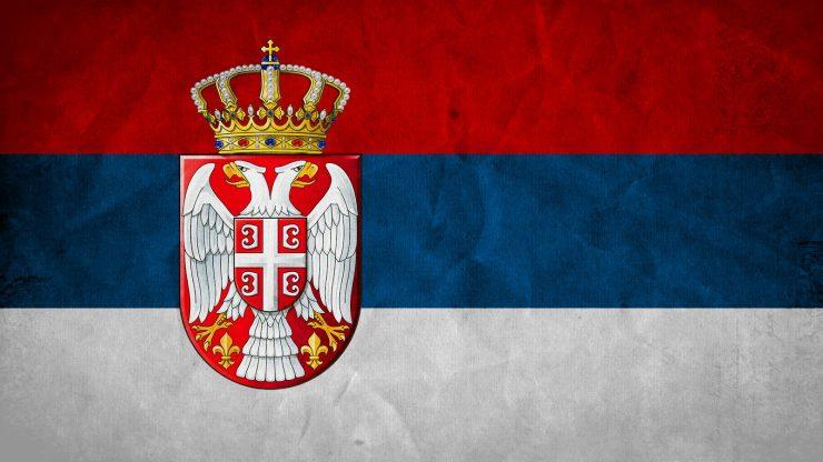 Zastava R.Srbije sa grbom Image